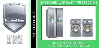 3 Year Warranty on Major Appliance Under $15 000 for In-Home
