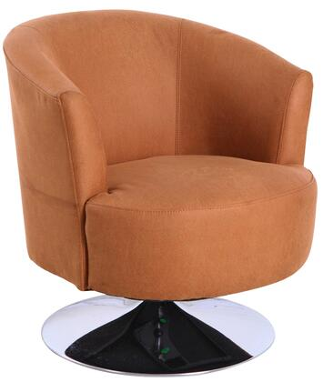 Tustin Leisure Collection TUSTIN212013 Accent Chair with 360 Degree Swivel  Wing Arms  Memory Foam Seating  All Steel Construction and Quality Fabric