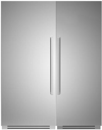 Bertazzoni  1308092 Column Refrigerator & Freezer Set Stainless Steel, 1