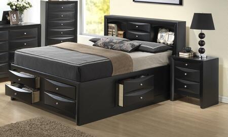 Glory Furniture G1500G G1500GTSB3CHN Bedroom Set Black, Main Image