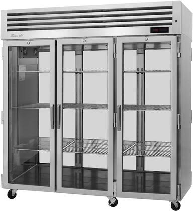 PRO-77H-G-PT 78″ Pro Series Glass Door Pass-Thru Heated Cabinet with 78.1 cu. ft. Capacity  Digital Temperature Control & Monitor System  Ducted Fan