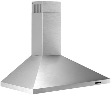 EW4836SS 36″ Convertible Wall Mount Chimney Range Hood with 400 CFM  3 Speed Capacitive Touch Control  2 Level LED Lighting  Aluminum Grease Filters