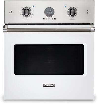 Viking 5 Series VSOE527WH Single Wall Oven White, Front view