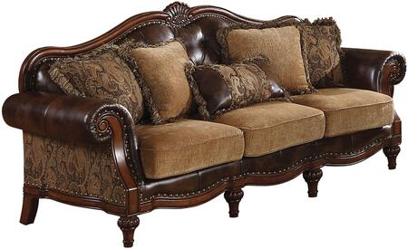 Acme Furniture Dreena 05495 Stationary Sofa Brown, Sofa
