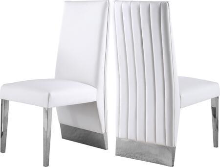 Meridian Porsha 750WHITEC Dining Room Chair White, 750WHITEC Main Image