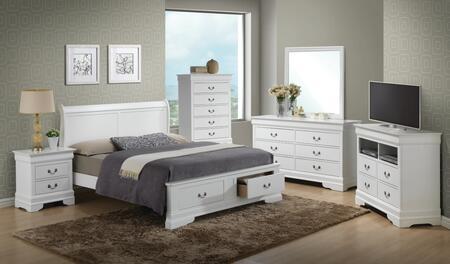 Glory Furniture G3190 G3190DFSB2BDMNCMC Bedroom Set White, Main View