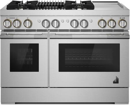 Jenn-Air RISE JDRP748HL Freestanding Dual Fuel Range Stainless Steel, JDRP748HL 48-Inch Dual-Fuel Professional Range with Chrome-Infused Griddle and Gas Grill