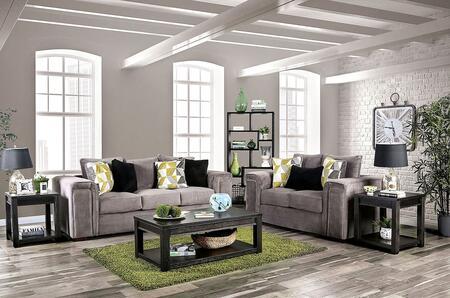 Furniture of America Bradford SM6154SFSET Living Room Set Gray, Living Room Set