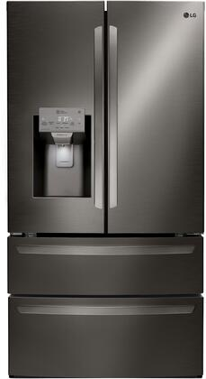 LG  LMXS28626D French Door Refrigerator Black Stainless Steel, Main Image
