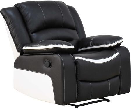 Acme Furniture Broderick 52167 Recliner Chair Black, 1