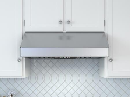 AK7048BS 48″ Under Cabinet Range Hood with 11″ Body Height  Dual-Level Lighting  Airflow Control Technology  CleanAir Function  Halogen Lighting