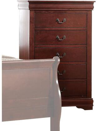 Acme Furniture Louis Philippe 23756 Chest of Drawer Brown, Angled View