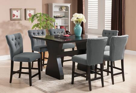 Acme Furniture Effie 71520G Bar Table Set Brown, 7 PC Set