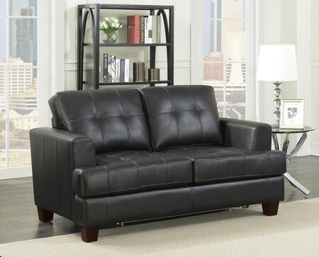 Coaster Samuel 501689 Sofa Bed Black, Main Image