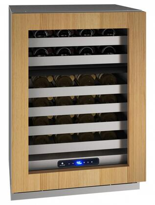 UHWD524IG01A 24″ 5 Class Panel Ready Dual-Zone Wine Captain with 49 Bottle Capacity  Six Wine Racks  Digital Touch Pad Control and LED