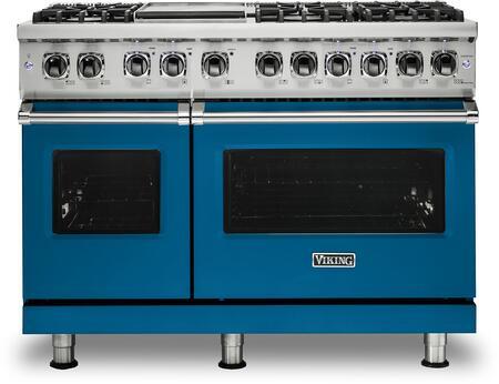 Viking 5 Series VDR5486GAB Freestanding Dual Fuel Range Blue, VDR5486GAB Dual Fuel Range