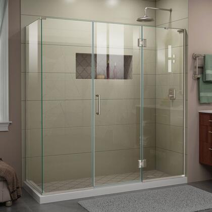 DreamLine Unidoor-X E32322530R04 Shower Enclosure Silver, UnidoorX Shower Enclosure RS45 24HP 24D 22IP 30RP R 04