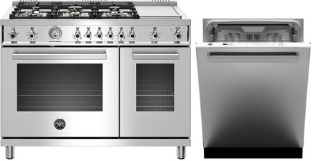 Bertazzoni  1000138 Kitchen Appliance Package Stainless Steel, main image