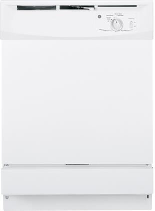GE 2100 GSD2100VWW Built-In Dishwasher White, Front View