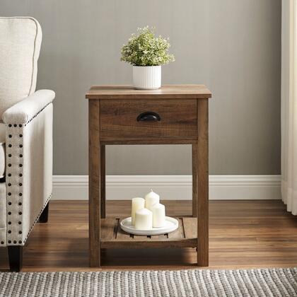 AF18CYSTRO 18″ Country Single Drawer Side Table – Reclaimed