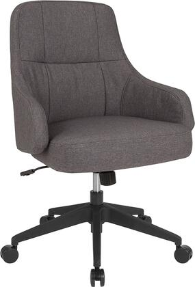 BT-90911H-DGY-F-GG Dinan Home and Office Upholstered Mid-Back Chair in Dark Gray