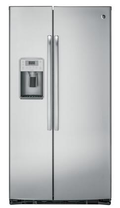 GE Profile PZS22MSKSS Side-By-Side Refrigerator Stainless Steel, Main View