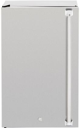 """SSRFR-21DR 21"""" Deluxe Compact Refrigerator with 4.5 cu. ft. Total Capacity #304 Stainless Steel Door Construction Reversible Door Capability"""