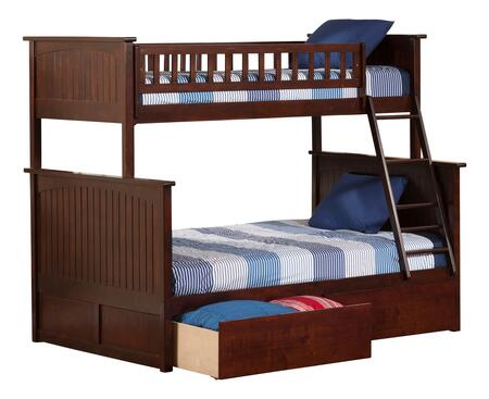 Atlantic Furniture Nantucket AB59244 Bed Brown, AB59244 SILO BD2 30
