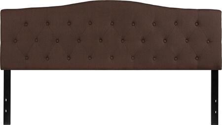 Flash Furniture Cambridge HGHB1708KDBRGG Headboard Brown, HG HB1708 K DBR GG
