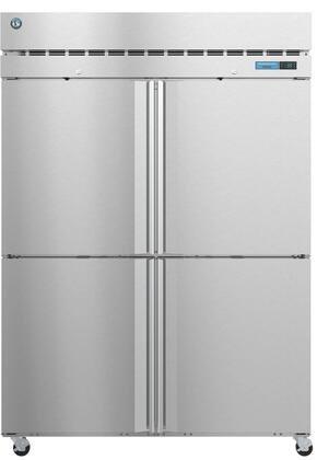 F2A-HS 55″ Steelheart Series Two Section Half Door Reach-In Freezer with 50.37 cu. ft. Capacity  6 Adjustable Shelves  4″ Casters and LED Lighting in