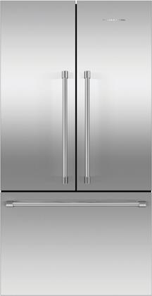 Fisher Paykel Professional RF201ACJSX1N French Door Refrigerator Stainless Steel, Front View