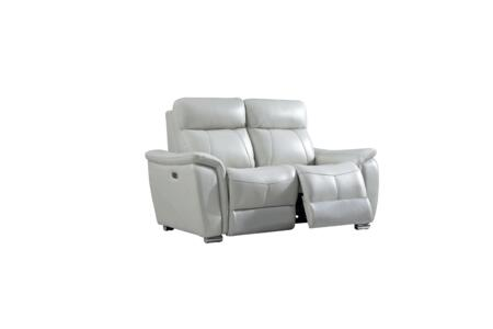 17052 66″ Loveseat with Electric Reclining  Pillow Top Arms and Eco-Leather Upholstery in Light
