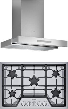 2 Piece Kitchen Appliances Package with SGS305TS 30″ Gas Cooktop and HDDB30WS 30″ Wall Mount Convertible Hood in Stainless