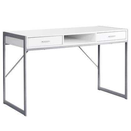I 7364 Computer Desk – 48″L / White / Silver