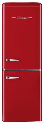 Unique  UGP215LRAC Bottom Freezer Refrigerator Red, UGP215LRAC Bottom Freezer Refrigerator