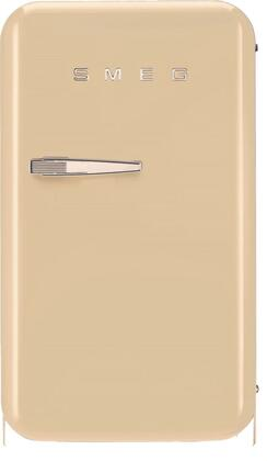 Smeg 50s Retro Style FAB5URP Compact Refrigerator Bisque, Front View