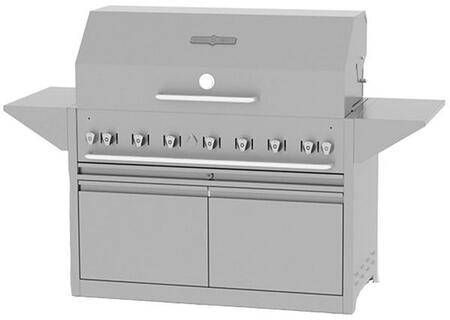 Crown Verity CVMBI48NG Commercial Outdoor Grill Stainless Steel, CVMBI48NG Side View
