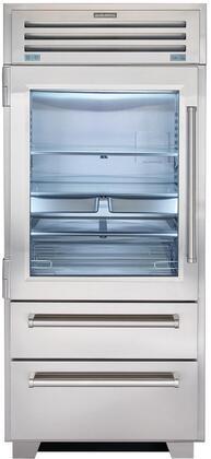 Sub-Zero Pro Series PRO3650GLH Bottom Freezer Refrigerator Stainless Steel, Main Image