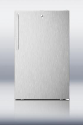 Summit FF511LBISSHV Compact Refrigerator Stainless Steel, Main Image