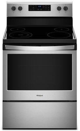 Whirlpool WFE505W0HS 5.3 Cu. Ft. Stainless 5 Burner Electric Range