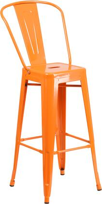 Flash Furniture CH3132030GBORGG Bar Stool Orange, Image 1