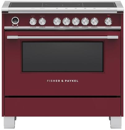 Fisher Paykel Classic OR36SCI6R1 Freestanding Electric Range Red, OR36SCI6R1 Classic Induction Range