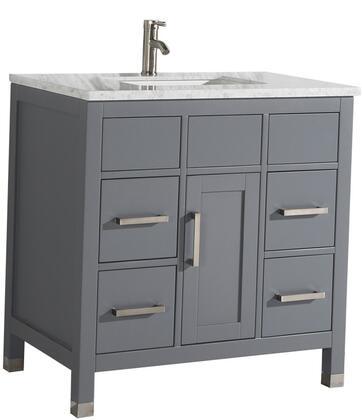 Ricca Collection MTD-6236G 36″ Single Sink Bathroom Vanity Set in