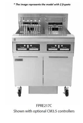 Frymaster RE Series FPRE2222081 Commercial Fryers and Oil Filtration Stainless Steel, 1Main