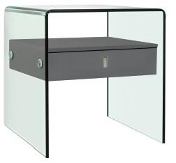 Casabianca Bari CBJ052GRAY Nightstand Gray, Nightstand/End Table