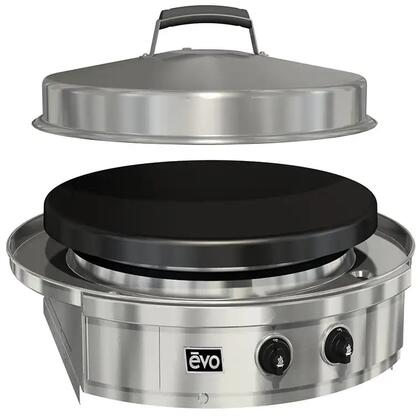 10-0095-LP 25″ Affinity 25G Liquid Propane Built In Grill with 25″ Black Seasoned Steel Cooking Surface  Drip Pan and Two Burners in Stainless