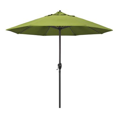 Casa Collection ATA908117-5429 9′ Patio Umbrella With Bronze Aluminum Pole Aluminum Ribs Auto Tilt Crank Lift With Sunbrella 2A Macaw