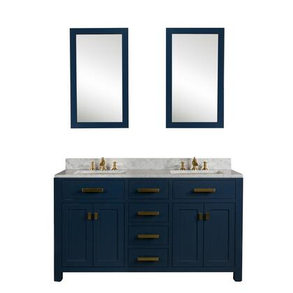 Water Creation Madison VMI060CWMB40 Sink Vanity Blue, MADISON60MB lifestyle