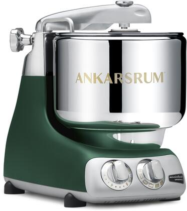 AKM6230FG Ankarsrum Original Mixer with 7 Liter Stainless Steel Bowl  3.5 L Double Whisk Bowl  Dough Hook  Roller  Scraper  Spatula  Dust Cover