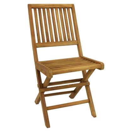 JVA-278 Nantasket Teak Outdoor Folding Patio Chair with Slat back - 1